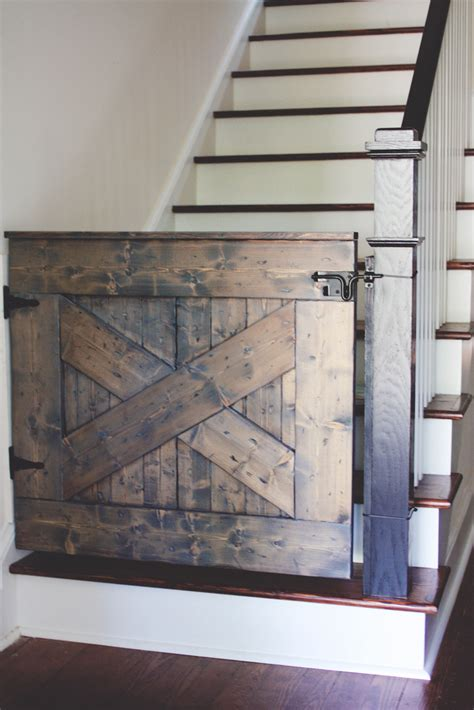 10 diy baby gates for stairs barn door baby gate baby
