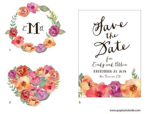 free printable watercolour flowers diy wedding design resources watercolor flowers a free