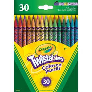 colores crayola crayola twistables colored pencils 30