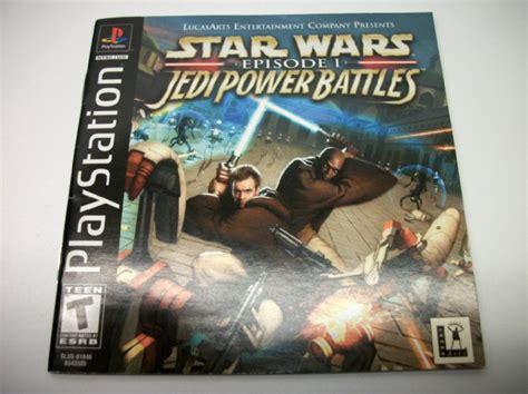 Star Wars Jedi Power Battles Playstation 1 Instruction