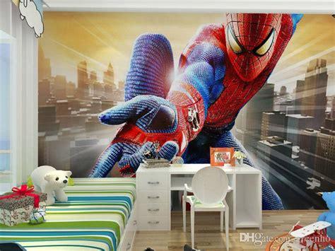 spiderman wallpaper for bedroom custom marvel hero wall mural spiderman kids boys children
