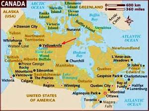 Yellowknife Canada Map by Canada Map Yellowknife