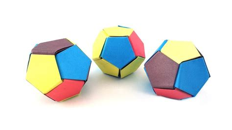 How To Make A Paper Soccer Easy - easy origami paper 3d soccer my crafts and diy projects