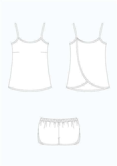 sewing pattern grainline grainline studio 17001 lakeside pajamas