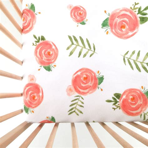 Floral Crib Sheets by Crib Sheet Soft Floral Fitted Crib Sheet Baby Bedding Crib