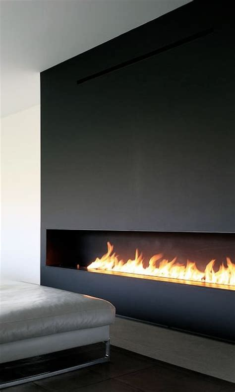 Horizontal Fireplaces horizontal fireplace in wood architect unknown