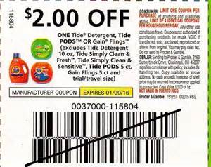 printable tide coupons august 2015 tide laundry detergent only 2 99 at walgreens with insert