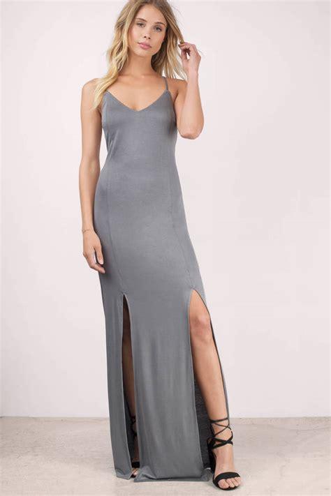 Natasya Gamis Baliteli Dress Maxy grey dress side slit dress pewter dress maxi dress tobi gb