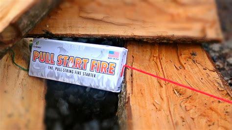 pull string fire starter pull start fire