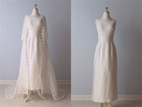 Brautkleider 60er by Sale Vintage 1960s Wedding Dress 60s Bridal Gown Lace