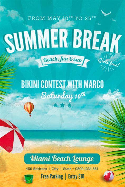 template photoshop summer summer break flyer template http www ffflyer com