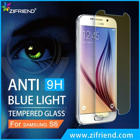 005095 Glass T S Samsung S6 Edge Blue Black new product for samsung s6 edge cover tempered glass