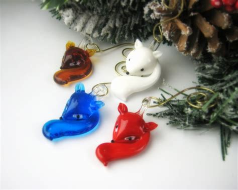 glass christmas ornaments fox ornament sets christmas gift