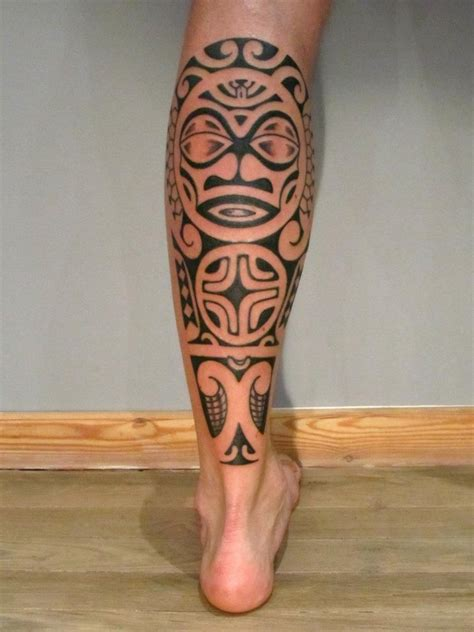 tribal tattoo calf 15 unique tribal calf tattoos only tribal