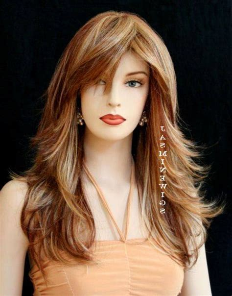 hairstyle with a few bangs long layered hairstyles with bangs simple hairstyle