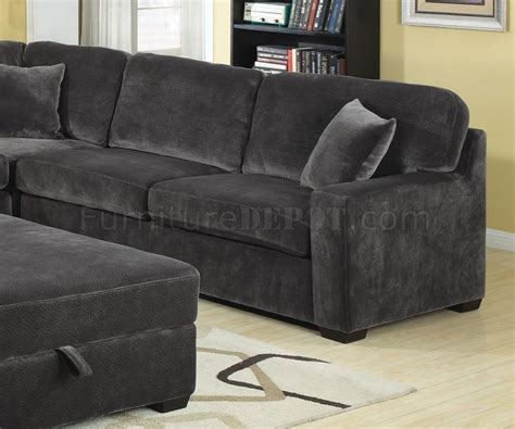 charcoal sectional sofa 500753 luka sectional sofa in charcoal fabric by coaster