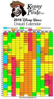 Disney World Crowd Calendar 2016 Disney World Crowd Calendar 2016 And 2017 Kennythepirate