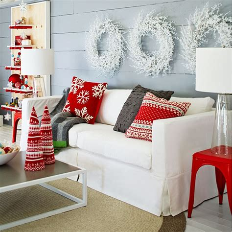 White Living Room Decor red and white scandinavian christmas town amp country living