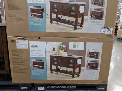 costco kitchen island bayside furnishings kitchen island console