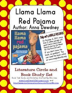 theme literature circle llama llama red pajama digital birthday invitation print