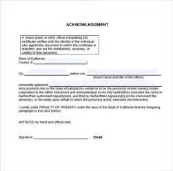 Notary Tx 9 Sle Notary Statements Free Sle Exle Format