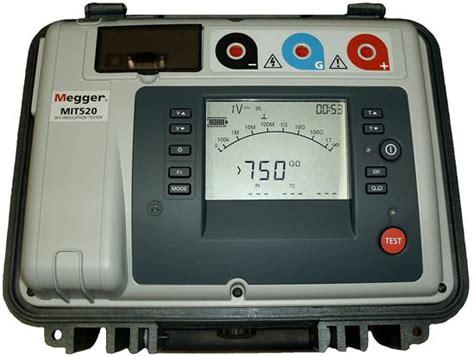 Alat Test Megger us instrument services megger mit520 2 5 kilovolt