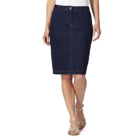 j by jasper conran designer blue denim skirt from