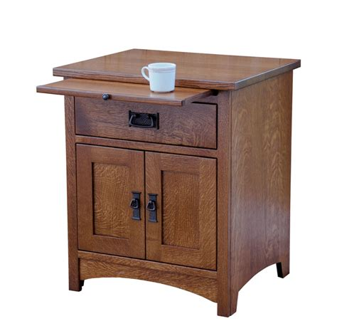 Country Mission 1 Drawer 1 - empire mission 1 drawer 2 door nightstand ohio hardword