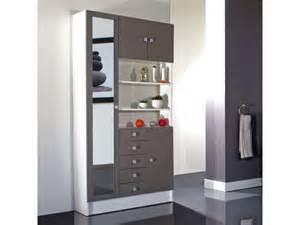 armoire de salle de bain 1 miroir 4 portes 5 tiroirs