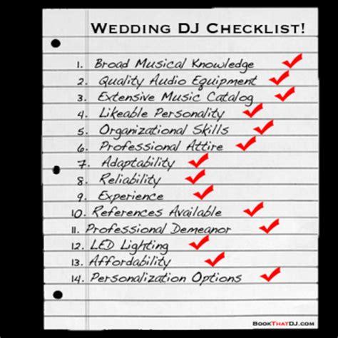 Wedding Checklist Sa by Affordable Dj Service Checklist Jl Entertainment Prlog