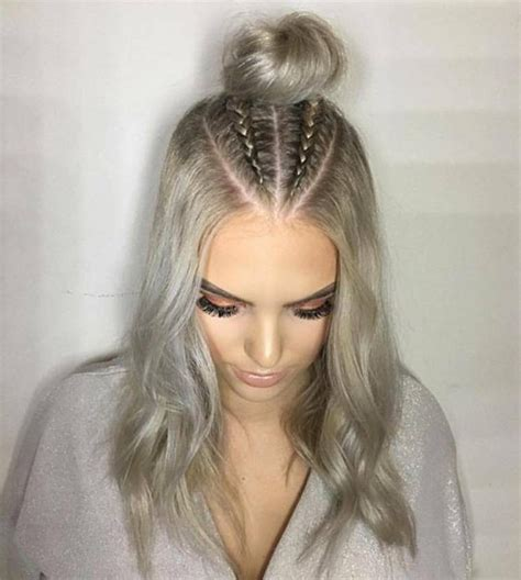 hair styles for a type 2 trend watch mohawk braid into top knot half up