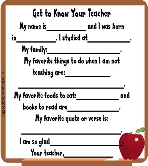 student information sheet template for teachers fear busting strategies new school or new grade