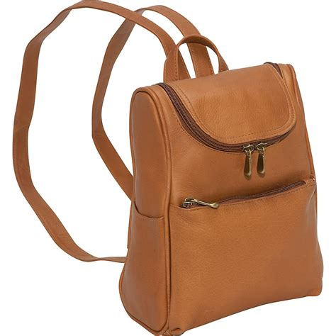 leather backpack purses le donne leather s everyday backpack purse 4 colors backpack handbag new ebay
