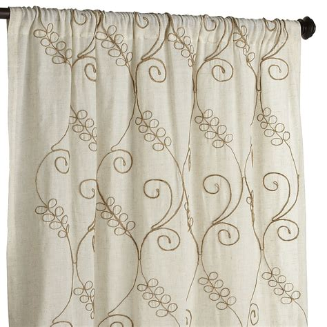jute drapes embroidered jute curtain pier 1 imports