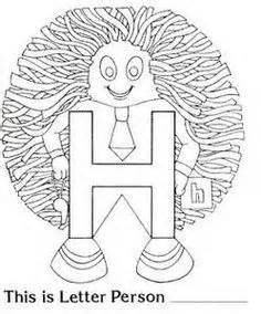 letter people coloring pages all things kindergarten