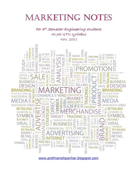 Gtu Mba Sem 1 Syllabus by Marketing Notes