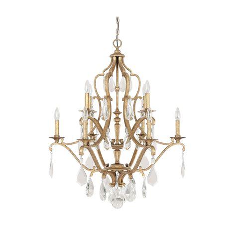 Gold Chandelier Light Fixture Capital Lighting Fixture Company Blakely Antique Gold 10