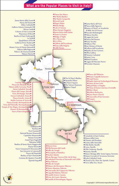 map of places to visit in what are the popular places to visit in italy answers