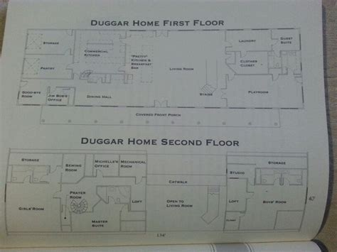 duggar house floor plan what s the house and open spaces on pinterest