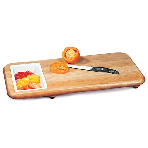 cutting board with trays catskill craftsmen 174 24x12 quot cut n catch cutting board with