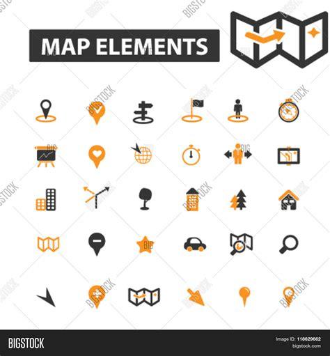 map design elements vector navigation icons navigation logo vector photo bigstock
