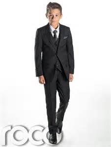 Black suit page boy suits slim fit suit prom suits boys tuxedo