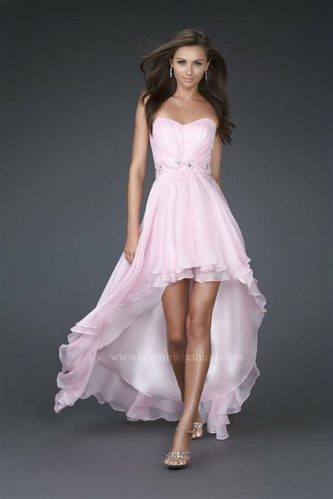 New High Low Fit Dress new pink high low prom dress bridesmaid evening formal dresses custom size ebay