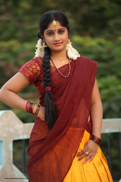 telugu heroines photos in saree telugu actress gagana in half saree photos south indian