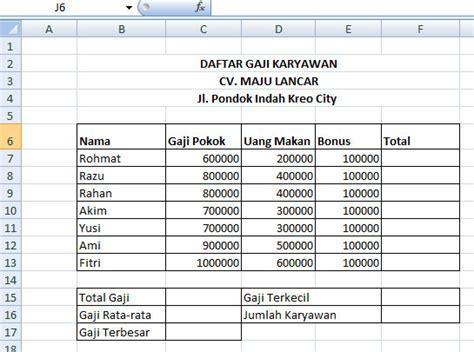 Contoh Microsoft Excel makalah sosiologi cara menggunakan rumus microsoft excel 2007