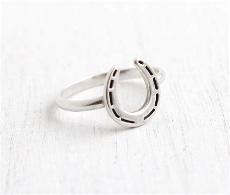 vintage sterling silver horseshoe ring size 6 3 4