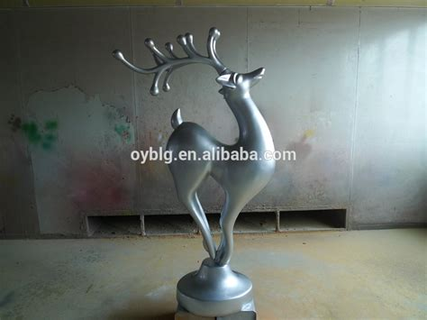 high glossy christmas fiberglass reindeer statues for sale