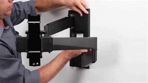 swing tv tube omnimount oe80fm full motion tv wall mount youtube