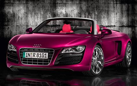Pink Audi R8 Spyder Carflash Fightbreastcancer I Will