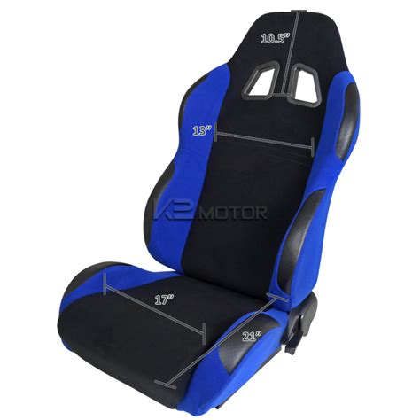 A Pair Of Bride Style Reclinable Racing Seats Sliders